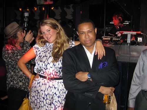La Madrina Marcy Clark with Celebrity DJ Kevin McCray