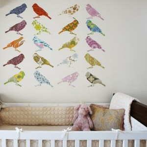 These birds are created using vintage wallpaper! Isn't that clever?