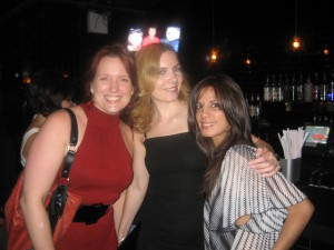 Some of the original Women's Mafia members, Stacy Harshman, Larisa and genius web designer Elisha Dang on the right