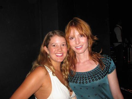 Marcy Clark and Alicia Witt
