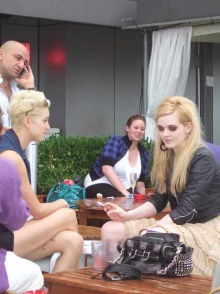 Agyness Deyn & Lydia Hearst clearly wanted to join us, they must have been too shy...