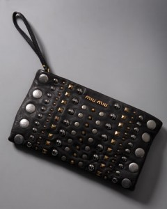 Miu Miu Studded Clutch
